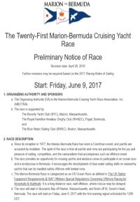 Notice of Race